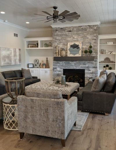 Town and Country Builders Modern Elegant Living Room Design